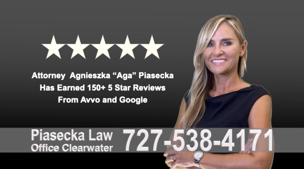 Divorce Attorney Clearwater Agnieszka, Aga, Piasecka, Polish, Lawyer, Attorney, Opinie klientów, Best, Najlepszy, Polskojęzyczny, Prawnik, Polski, Adwokat, Florida, Floryda, USA