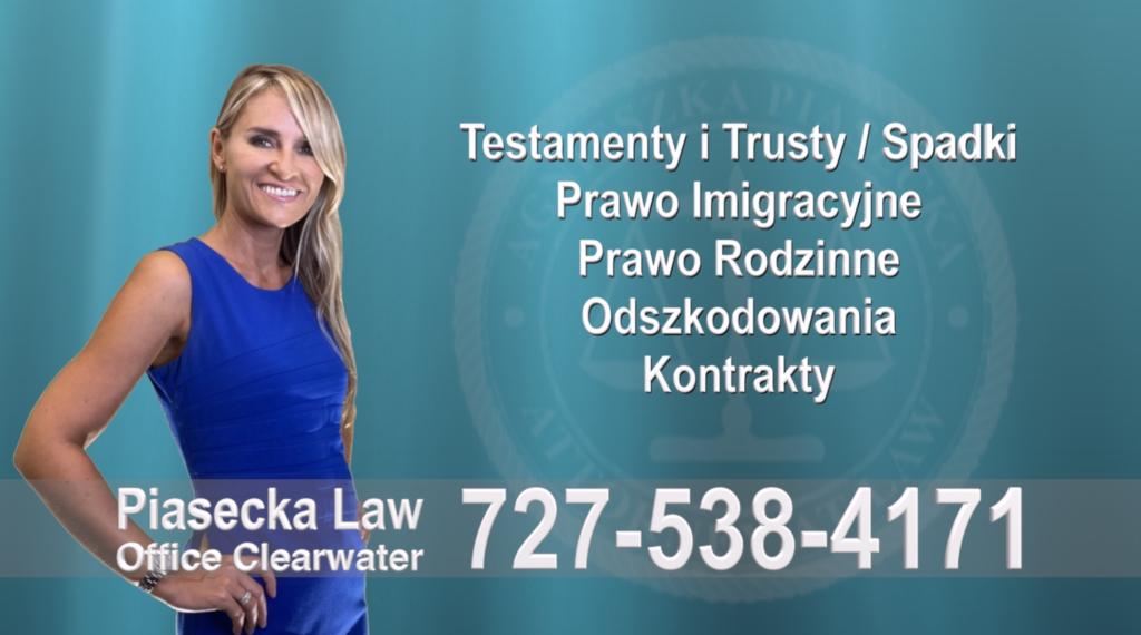 Clearwater Floryda, Testamenty i Trusty, Spadki, Prawo, Imigracyjne, Rodzinne, Odszkodowania, Wypadki, Kontrakty, Polski, Prawnik, Adwokat, Floryda, USA